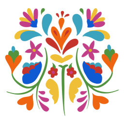 Otomi style floral composition