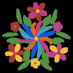 Adorno floral de estilo otomí