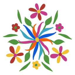 Otomi style floral ornament