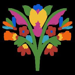 Elemento de flor de estilo otomí