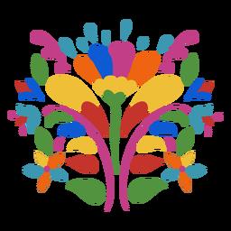 Ornamento de flores estilo Otomi