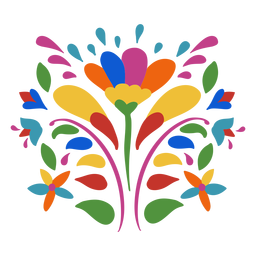 Otomi style flower ornament