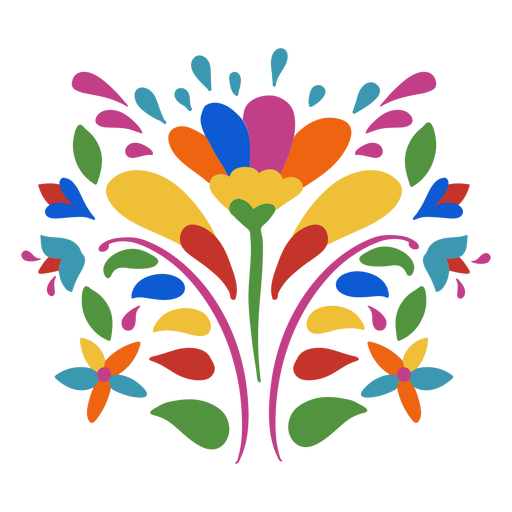 Otomi style flower ornament Transparent PNG