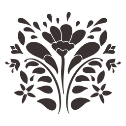 Otomi estilo flor ornamento silhueta