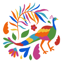 Otomi style peacock