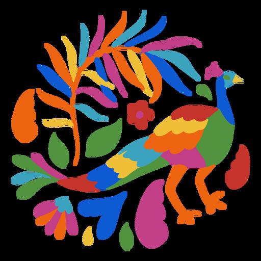 Otomi style peacock