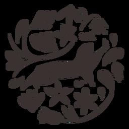 Silueta de perro de las praderas de estilo otomí