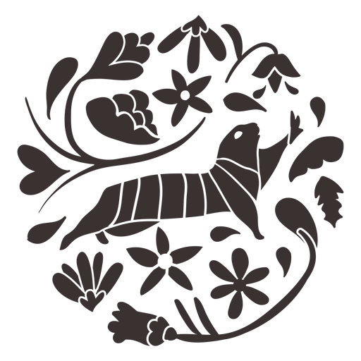 Otomi style prairie dog silhouette Transparent PNG