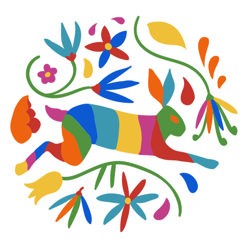 Otomi style rabbit Transparent PNG