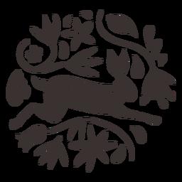 Silhueta de coelho estilo Otomi