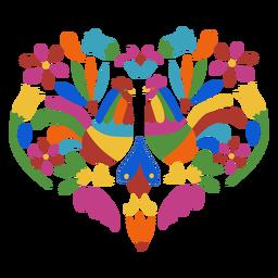 Gallo de gallo estilo otomí