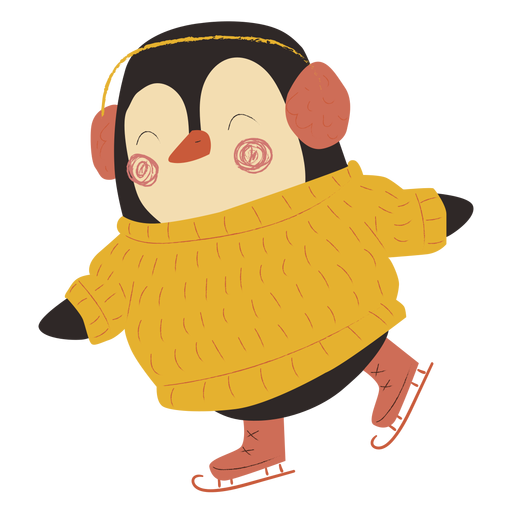 Pinguin Eislaufen