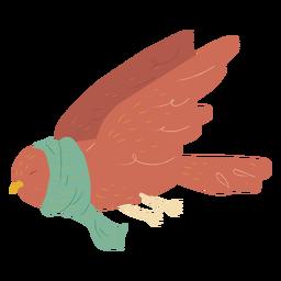 Paloma volando con bufanda