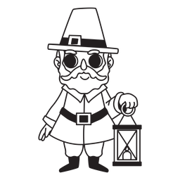 Pilgrim man with lantern vinyl