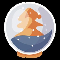 Elemento de globo de neve de pinheiro