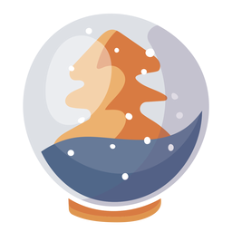 Pine tree snow globe element