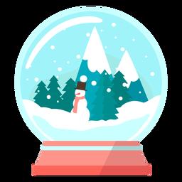 Globo de neve de pinheiros