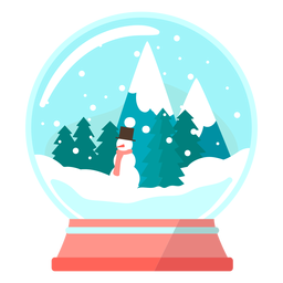 Pine trees snow globe