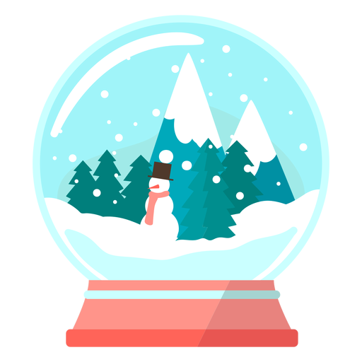 Pine trees snow globe Transparent PNG