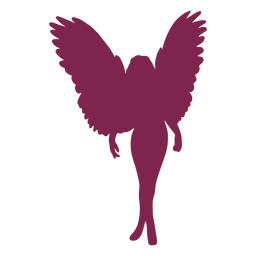 Pink angel standing silhouette