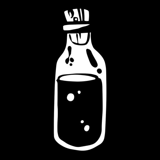 Silhueta de frasco de veneno