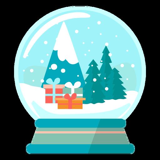 Presents scene snow globe