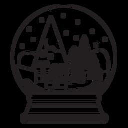 Presenta escena trazo de globo de nieve