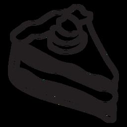 Rebanada de pastel de calabaza de vinilo