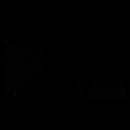 Reef habitat landscape silhouette