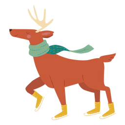 Reindeer ice skating