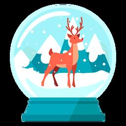 Globo de neve de renas