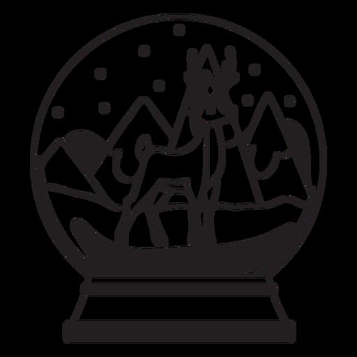 Golpe de globo de nieve de renos Transparent PNG