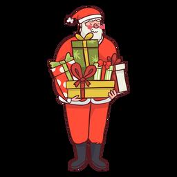Santa llevando regalos