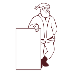 Papá Noel con trazo de signo