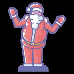 Desenho de saudação de Papai Noel