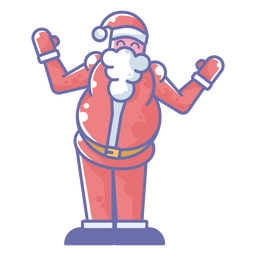 Santa greeting cartoon