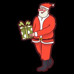 Santa handing present