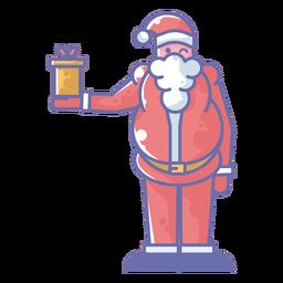 Papai Noel segurando presente
