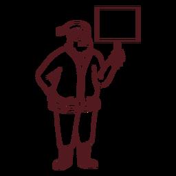 Santa con trazo de tablero de señal