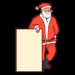 Papai Noel com sinal