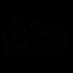 Silhueta de paisagem de habitat marinho