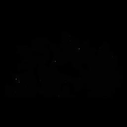 Sea turtle habitat landscape silhouette