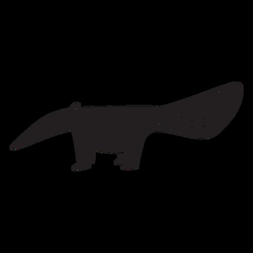 Silueta de oso hormiguero simple Transparent PNG