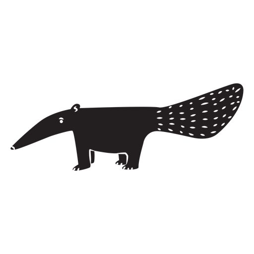 Simple anteater silhouette Transparent PNG