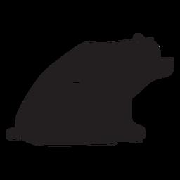 Urso simples sentado silhueta