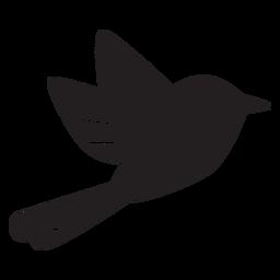 Silhueta simples de pássaro voando