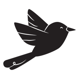 Simple bird flying silhouette