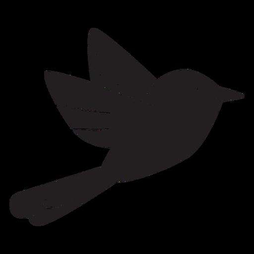 Silueta de pájaro volando simple