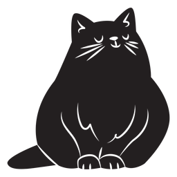 Silhueta de gato simples