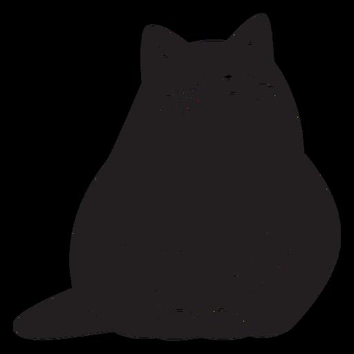 Silhueta de gato simples Transparent PNG